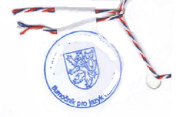con dấu xanh của phiên dịch viên quốc gia Séc