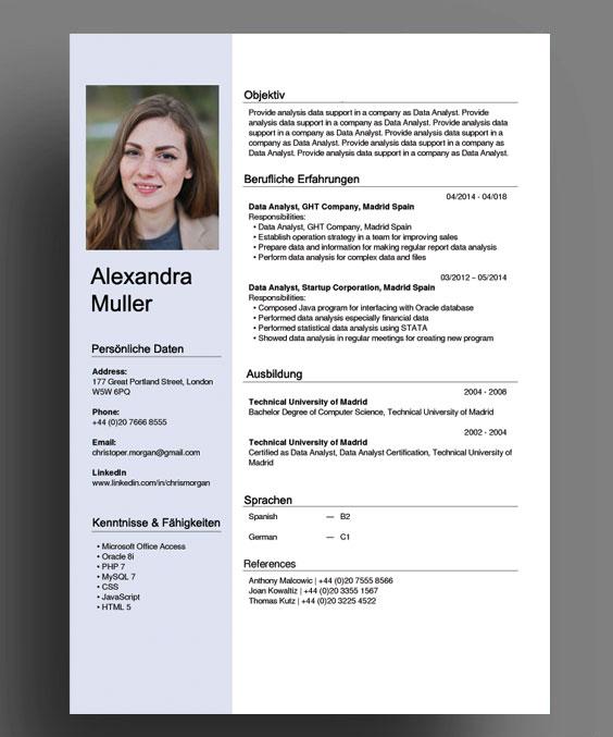 CV của bạn nên trông ngắn gọn, rõ ràng, chuyên nghiệp như vậy. Bạn có thể tham khảo free template trên Canva hoặc Cool Free CV.